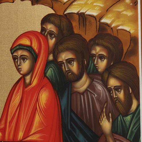Icona Discesa agli Inferi dipinta a mano Russia 22x27 cm 5