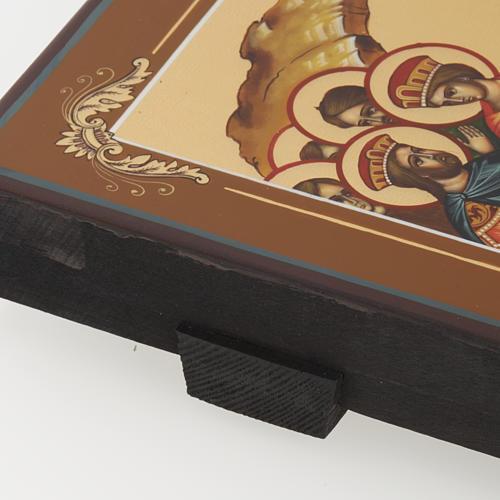 Icona Discesa agli Inferi dipinta a mano Russia 22x27 cm 7