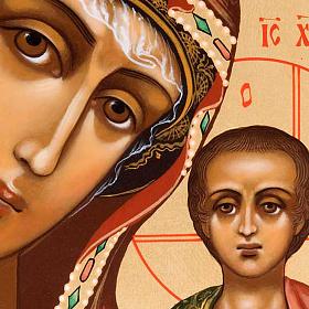 Icona ortodossa Madonna di Kazan dipinta Russia s2