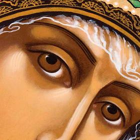Icona ortodossa Madonna di Kazan dipinta Russia s3