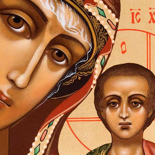 Icona ortodossa Madonna di Kazan dipinta Russia 2