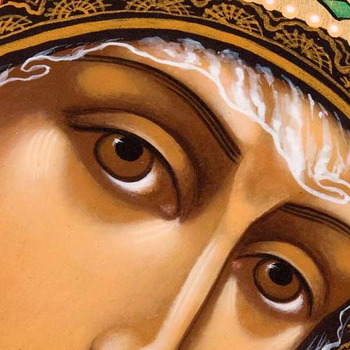 Icona ortodossa Madonna di Kazan dipinta Russia 3