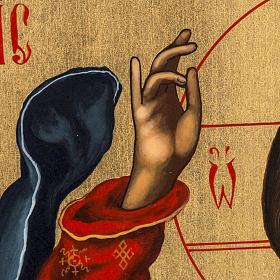 Icona russa dipinta Pantocratore benedicente s4