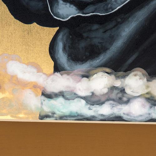 Icona russa dipinta Pantocratore benedicente 5