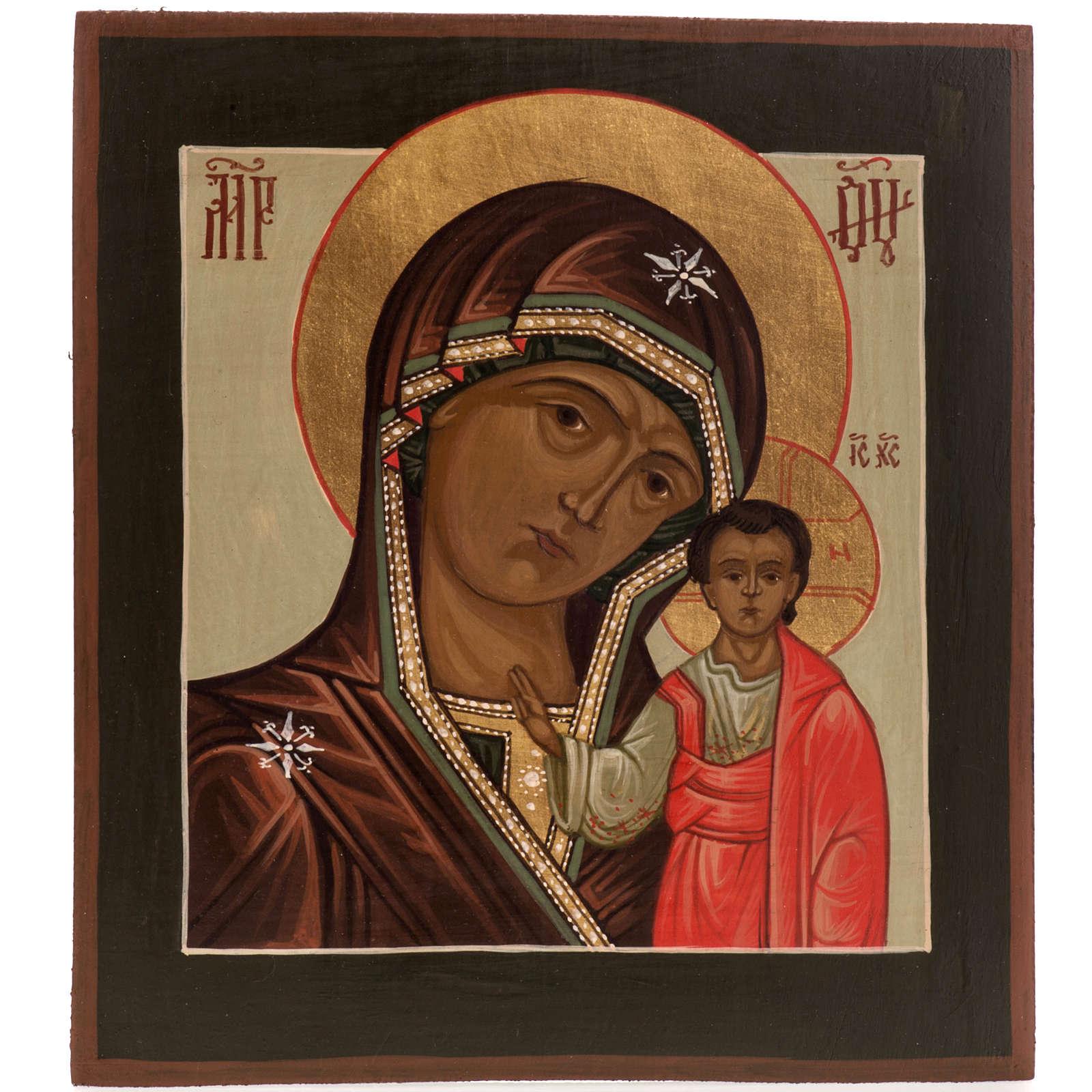 Icona Russa Madonna di Kazan 20x15 cm 4
