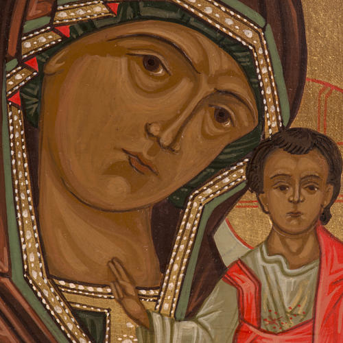 Russian icon, Our Lady of Kazan 20x15cm 2