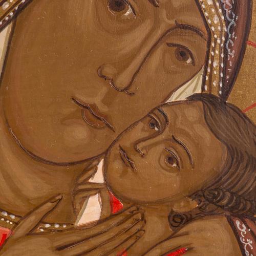 Icône Russie Mère de Dieu de Korsun 20x17 cm 2