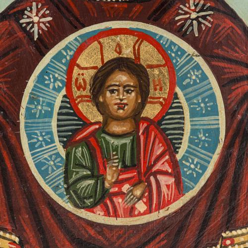 Icona russa dipinta Madonna del Segno 18x12 cm 3