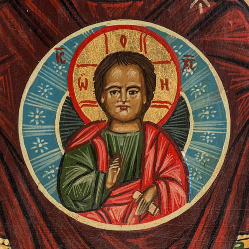 Icona Russia dipinta Madonna del Segno 20x17 cm 3