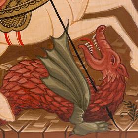 Icona Russa San Giorgio dipinta 30x25 cm s3