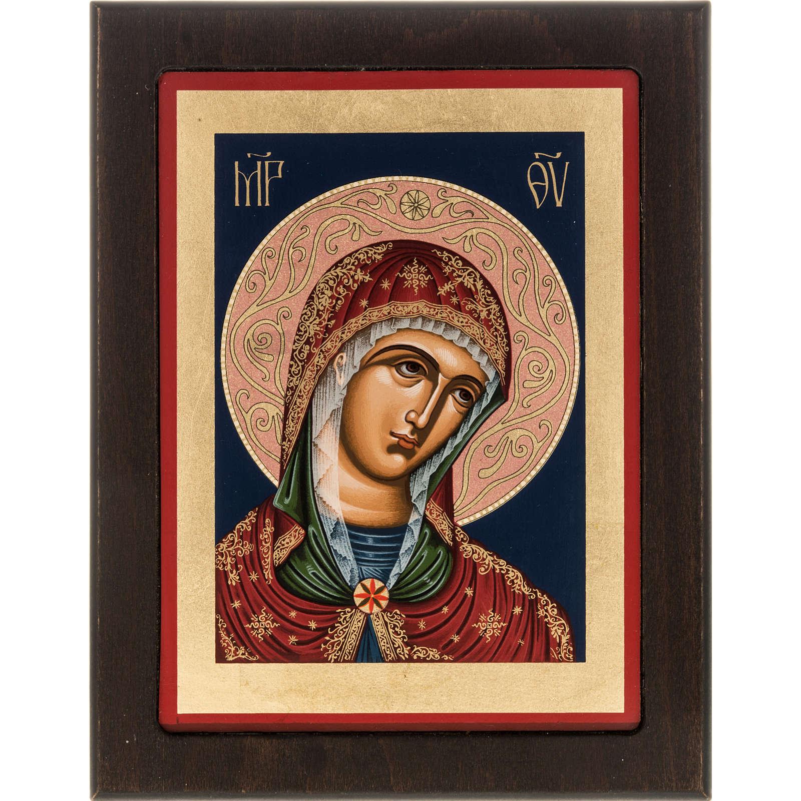 Greek silkscreen print, Our Lady 4