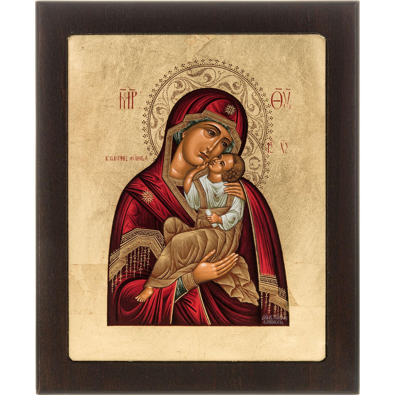 Icona serigrafata Madre di Dio della Tenerezza Grecia 4