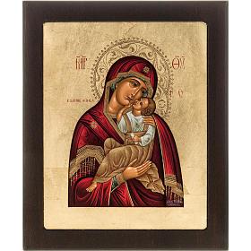 Icona serigrafata Madre di Dio della Tenerezza Grecia s1