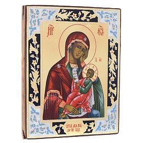 Ícone Mãe de Deus Confortou a minha dor pintado sobre madeira séc. 19 s3