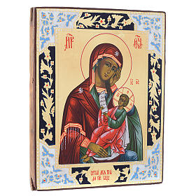 Russian icon Mother of Gos assuage my sorrows, XIX century panel s3