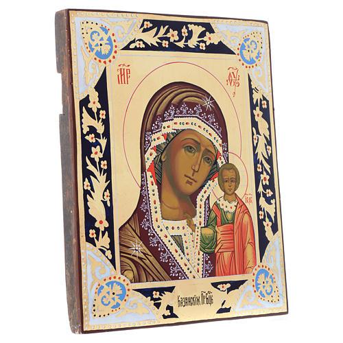 Russian icon Madonna of Kazan, XIX century panel 3