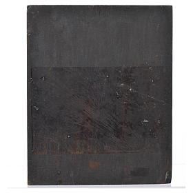 Icona russa Pantokrator su tavola antica s3