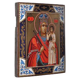 Icona Madonna Umiltà dipinta su tavola antica s2