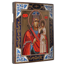 Russian icon Madonna of Humility, XIX century panel s2