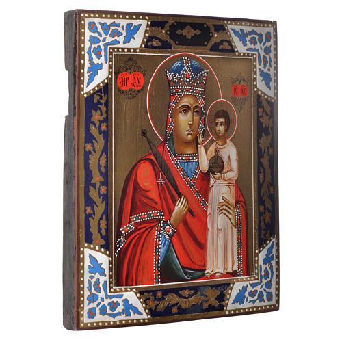 Russian icon Madonna of Humility, XIX century panel 2