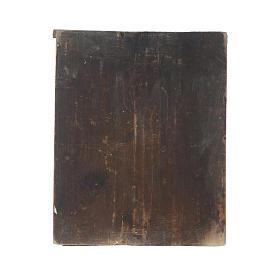 Icona Madonna Veramente Degna su tavola antica s4