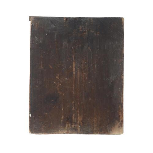 Icona Madonna Veramente Degna su tavola antica 4