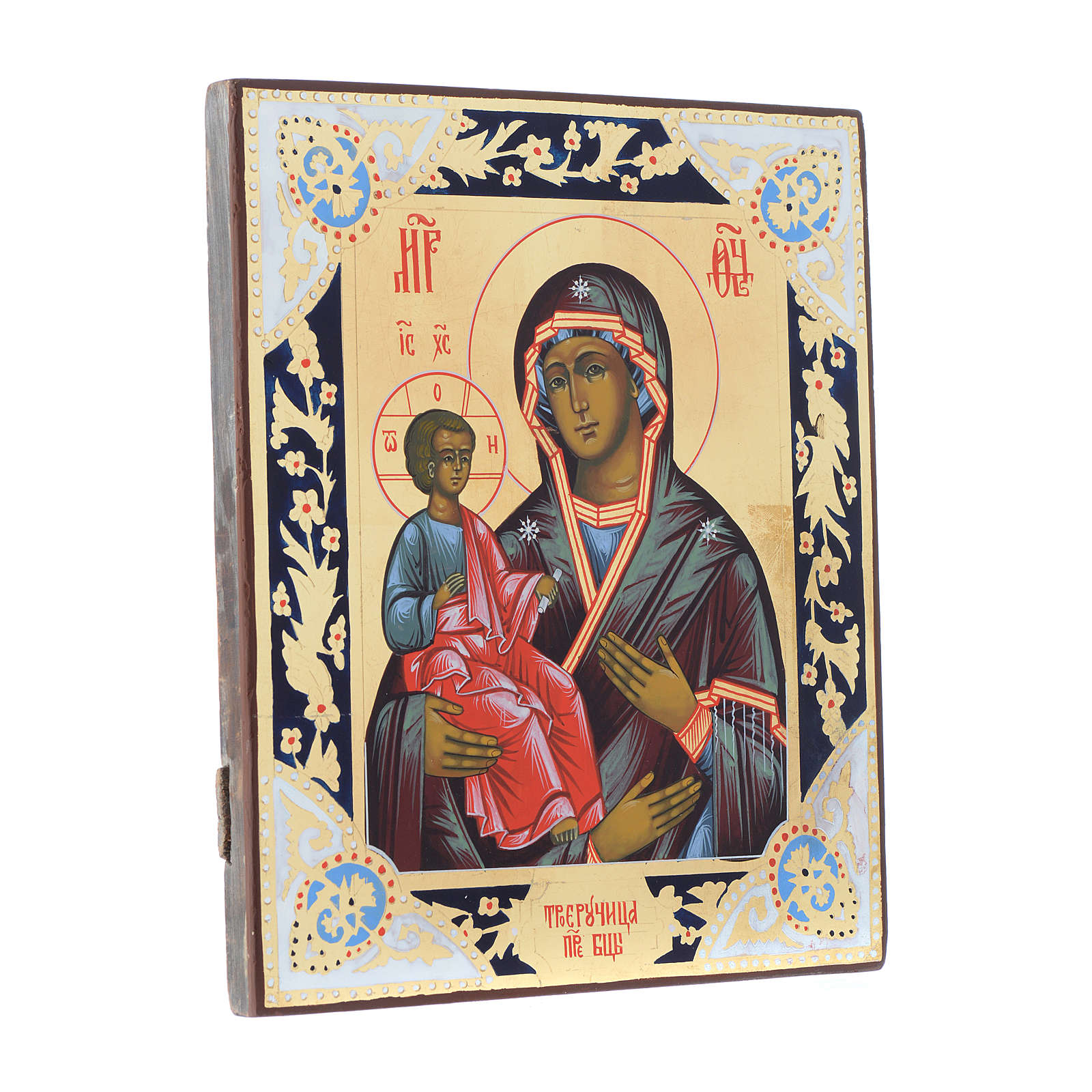 Russian icon Virgin of the Three Hands 31x26 cm 4