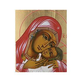 Icona Madonna Tenerezza Korsun su tavola antica s2
