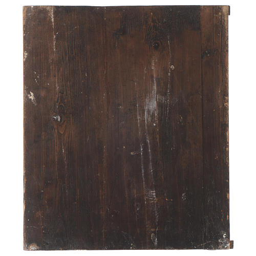 Icona SS. Trinità dipinta tavola antica Russa 3