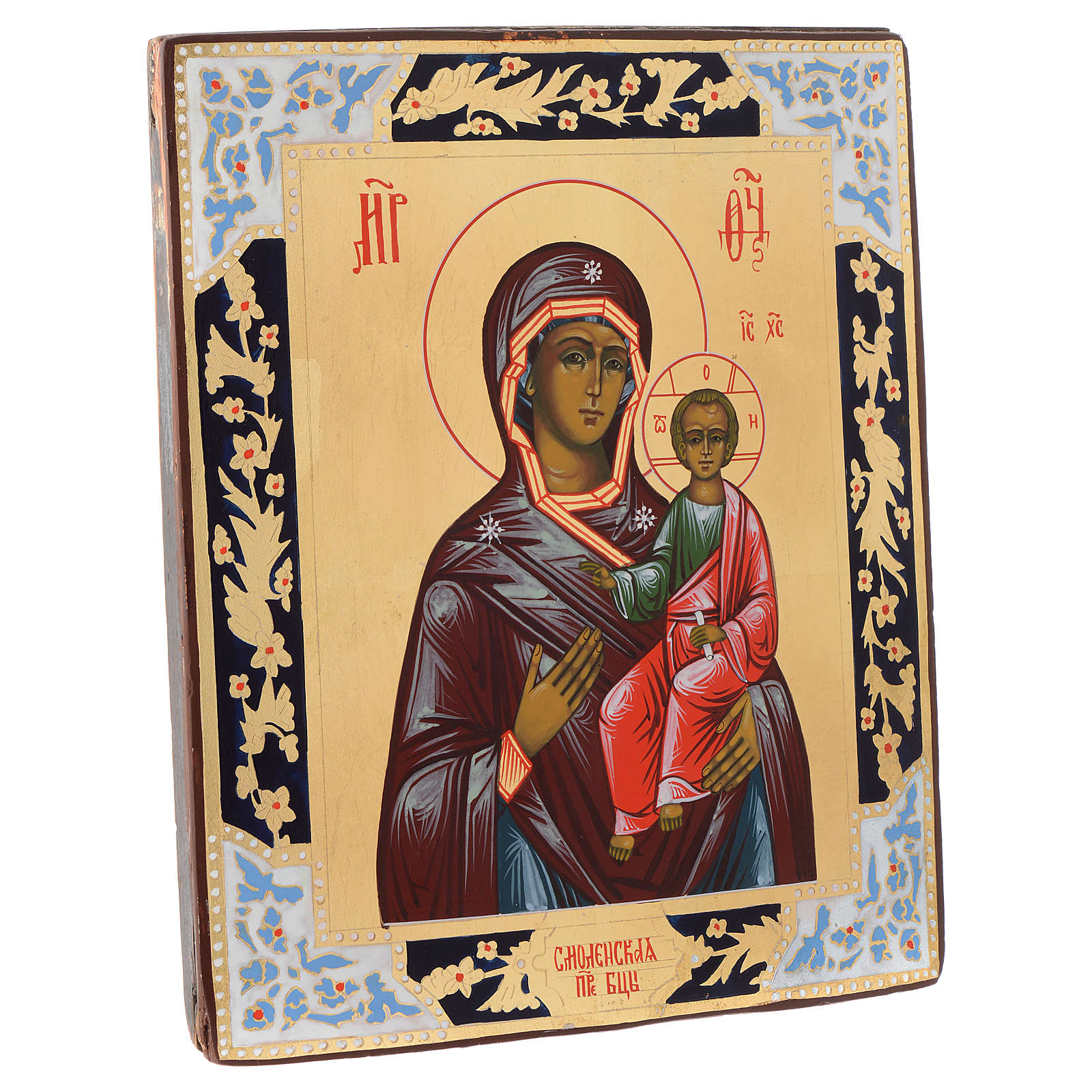 Russian icon Our Lady of Smolensk, panel painting 4