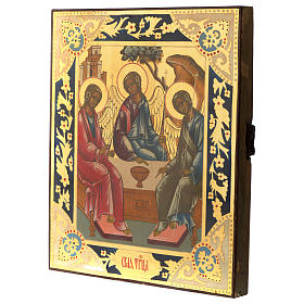 Trinity of Rublev ancient Russian icon 12x10 inc s3
