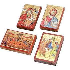 Icone stampate Gesù, Maria, Ultima cena, Trinità s1