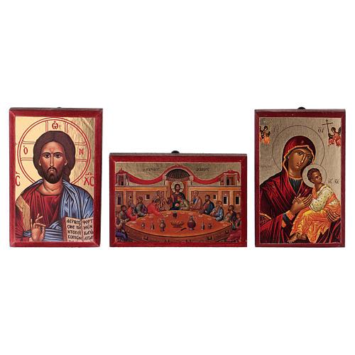 Icone stampate Gesù, Maria, Ultima cena, Trinità 1
