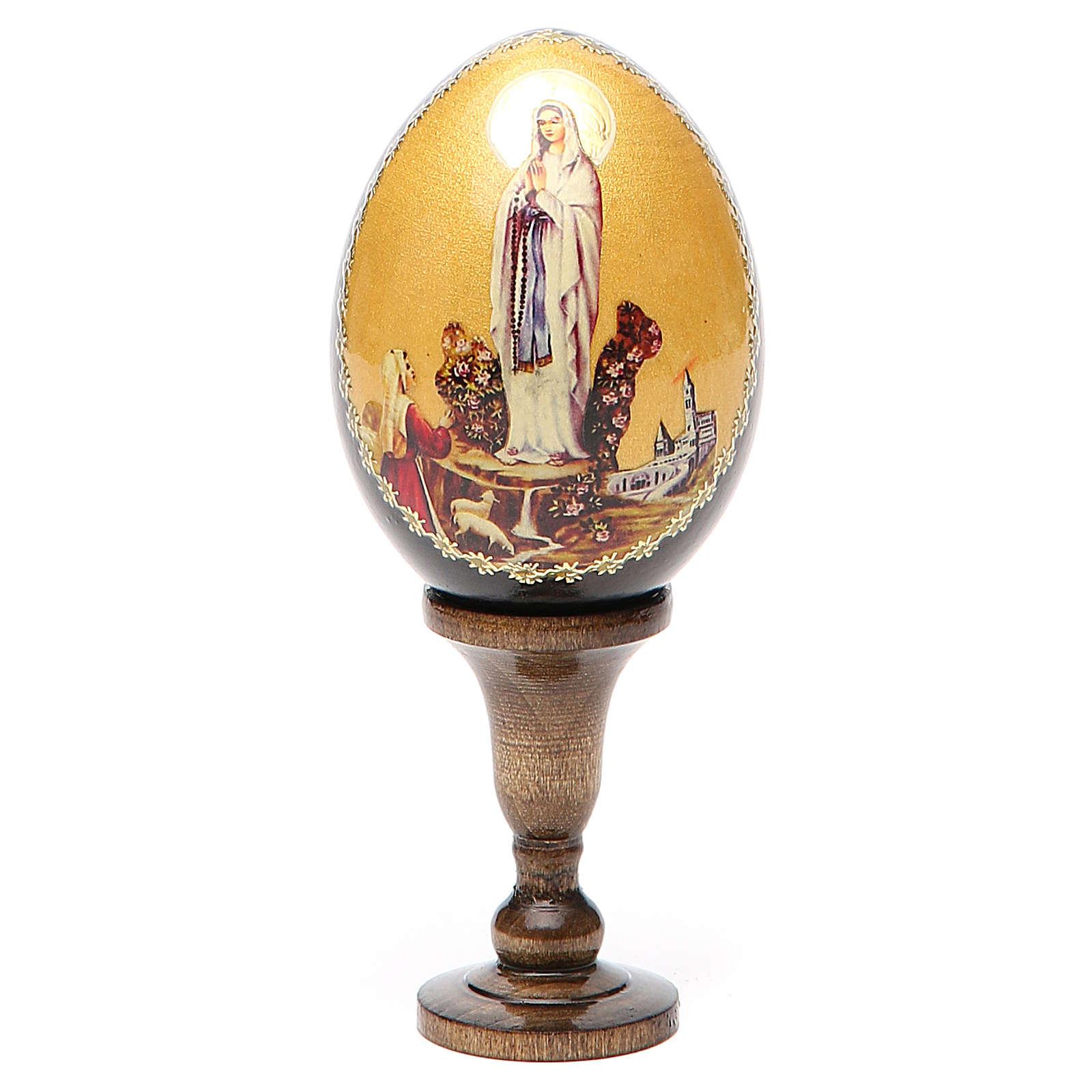 Icône Vierge de Lourdes en forme de oeuf 4