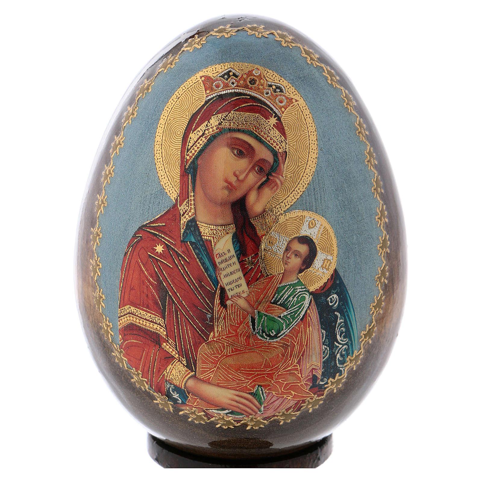 Ikona Maryja z Dzieciątkiem tło błękitne 4