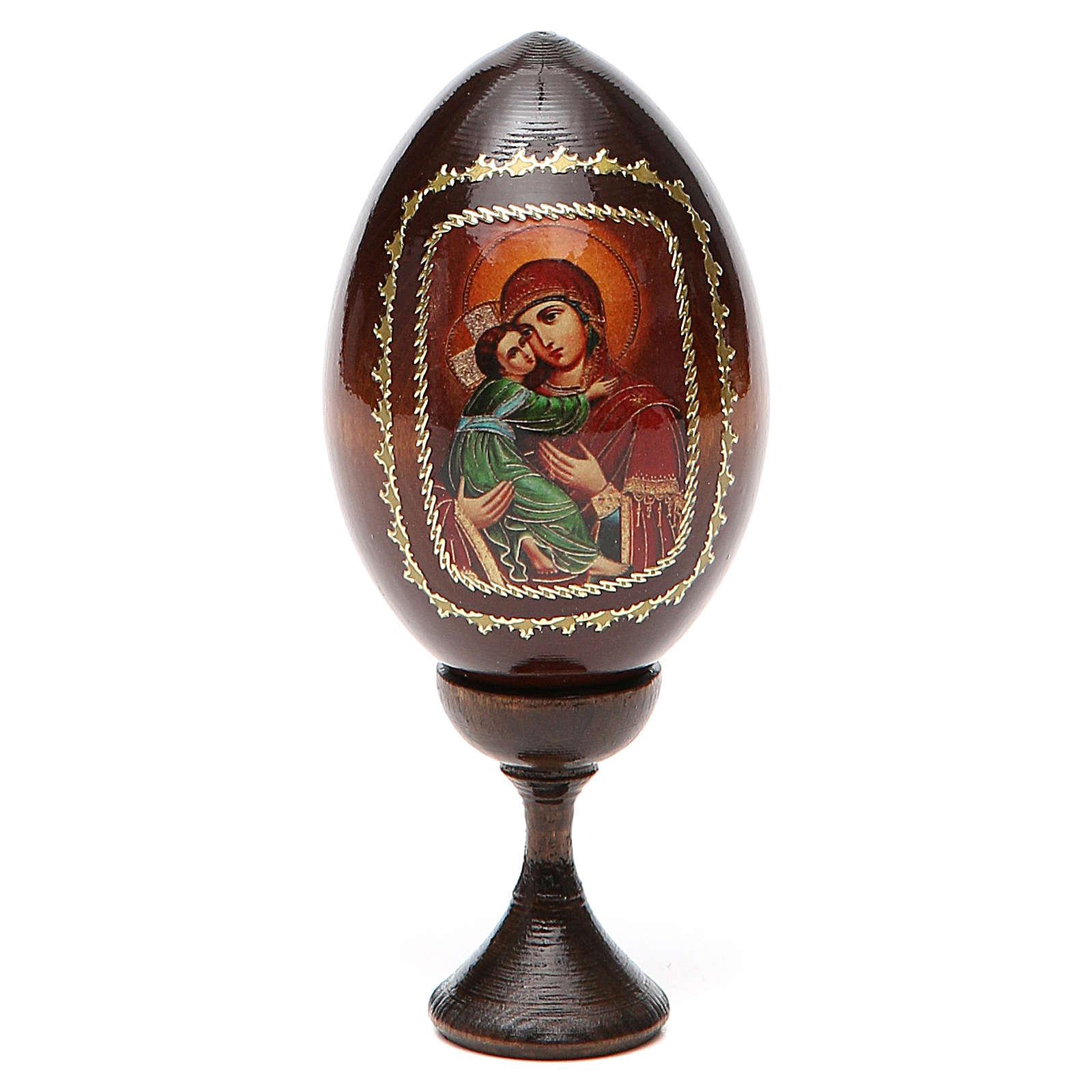 Icona Maria con Bimbo fondo rosso 4