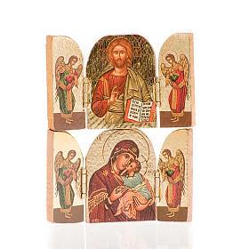 Icone stampa legno e pietra: Trittico mini