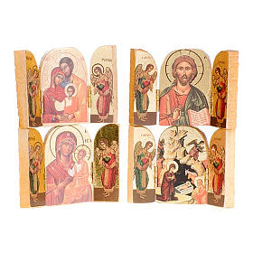 Icônes imprimées sur bois et pierre: Triptyque, diverses images