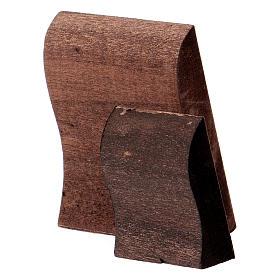 Ícone Jesus impressão madeira trabalhada s4