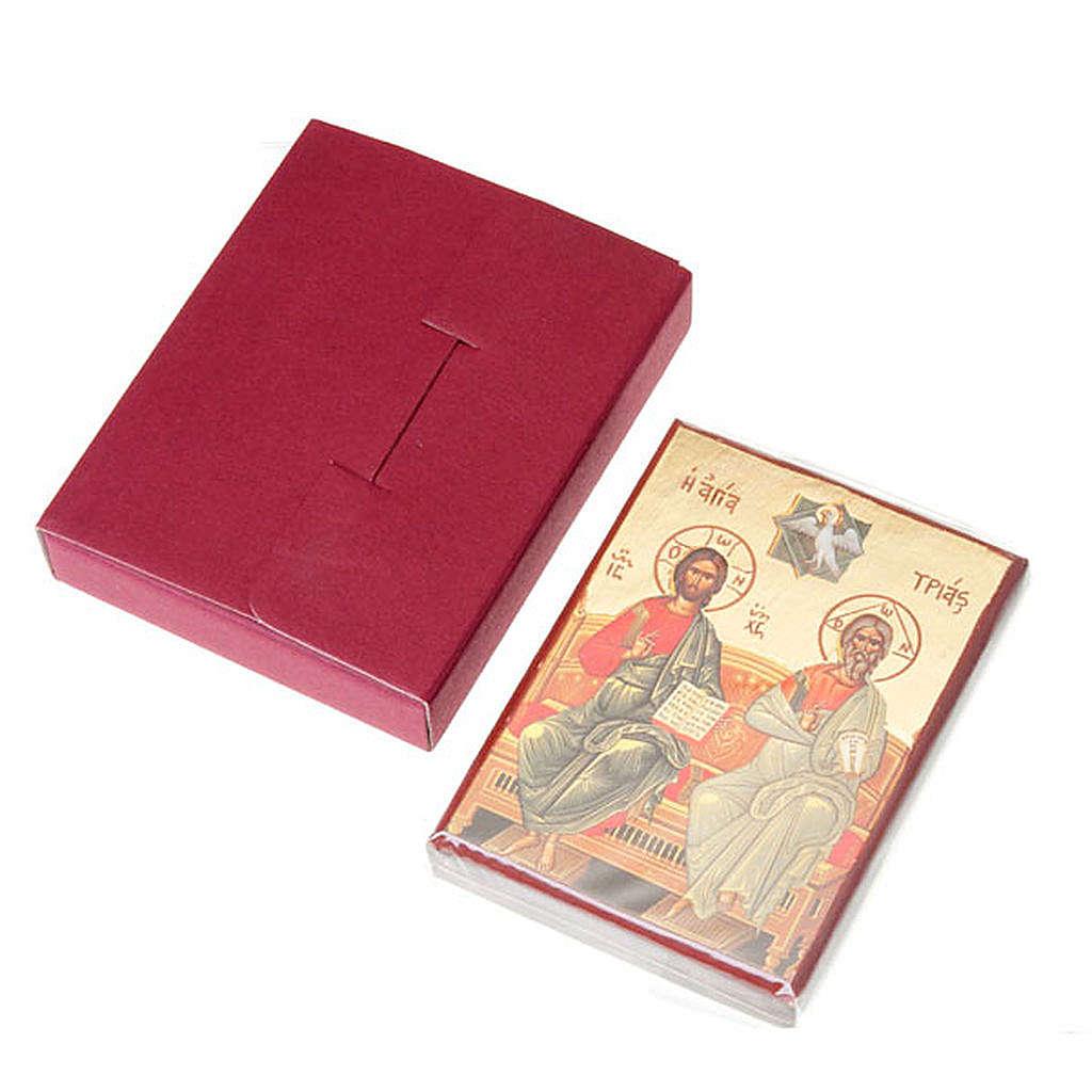Gedruckte Ikone Jesus, Heilige Familie, Dreieinigkeit 4