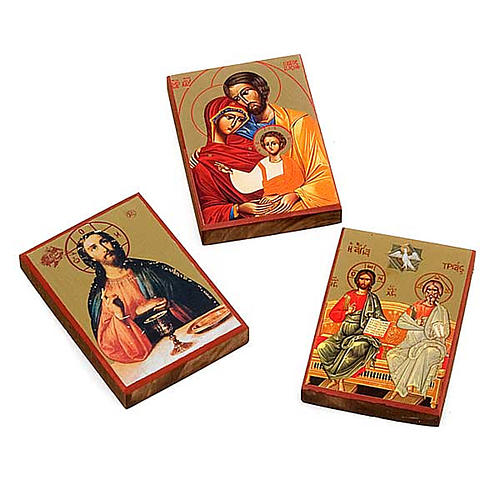 Screen-printed icons, Jesus, the Holy Family, the Holy Trinity 1