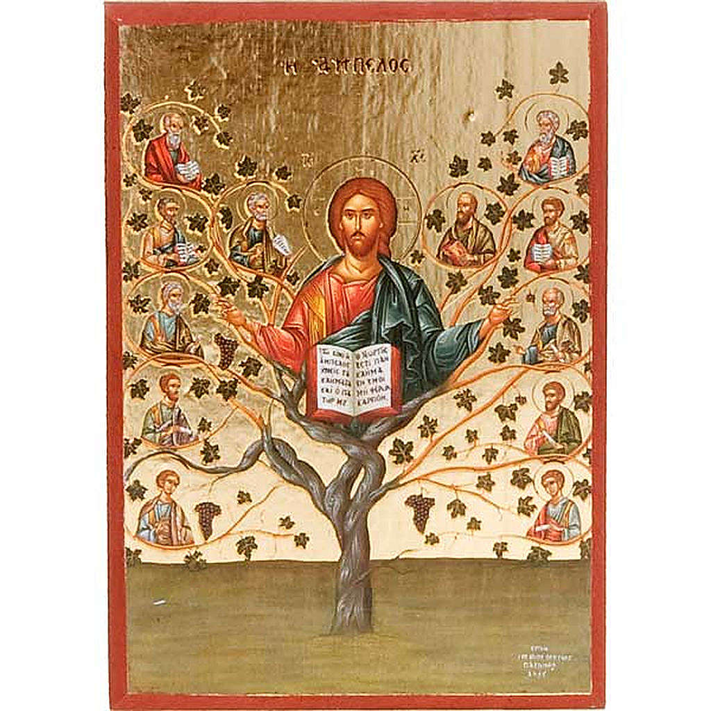 Jesus the vineyard, printed icon 4