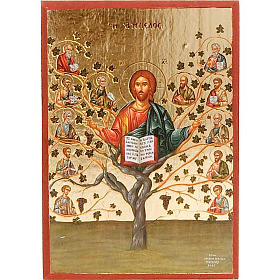 Jesus the vineyard, printed icon s1
