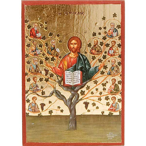 Jesus the vineyard, printed icon 1