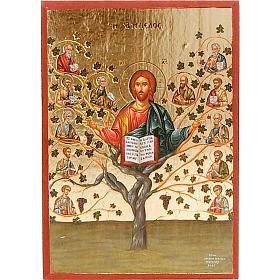 Ícono estampada Jesús verdadera vid s1