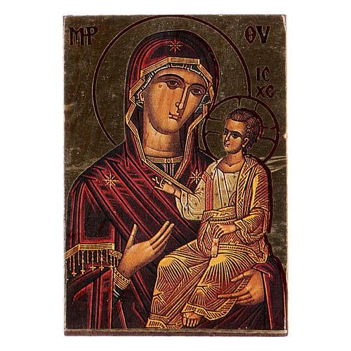 icône de la Vierge imprimée et modelée 1
