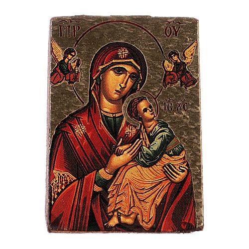 icône de la Vierge imprimée et modelée 2