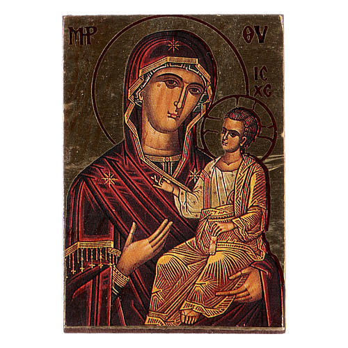 Mother Mary printed icon 1