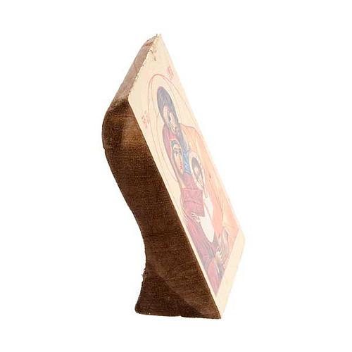 Ícone Sagrada Família impressão madeira trabalhada 2