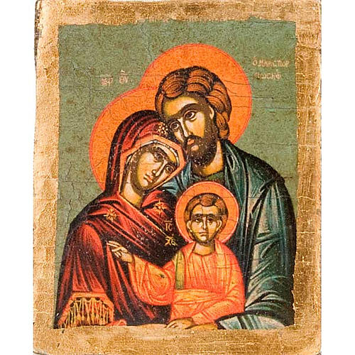 The Holy Family, screen-printed profiled icon 1
